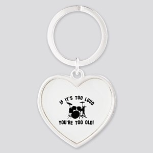 Drum Vector designs Heart Keychain